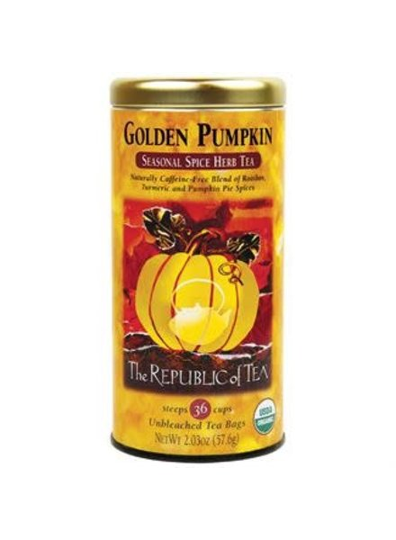 Republic of Tea Seasonal Tea Herbal Golden Pumpkin