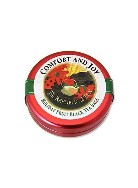 Republic of Tea Seasonal Tin Sml Comfort & Joy