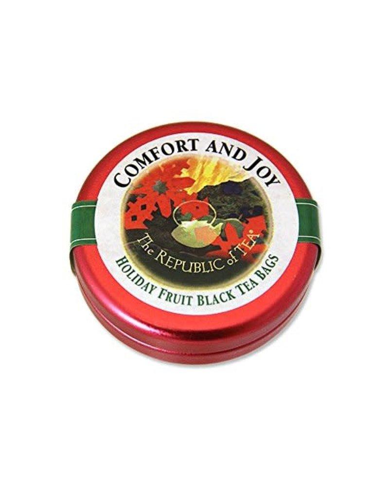 Republic of Tea Seasonal Tin Sml Comfort & Joy