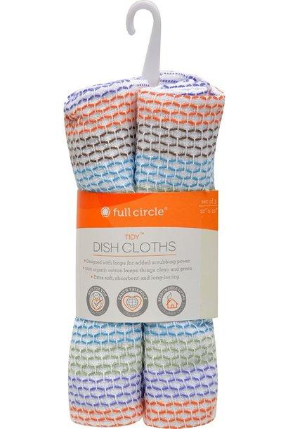 Dish Cloths Organic S/3 Multi