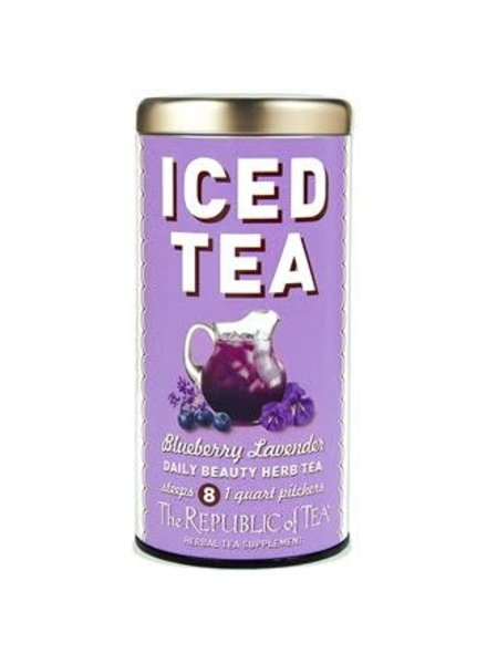 Republic of Tea Iced Herbal Tea Blueberry Lavender