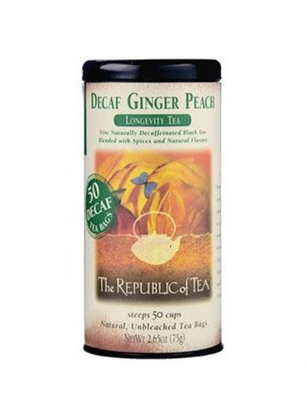 Republic of Tea Black Tea Decaf Ginger Peach
