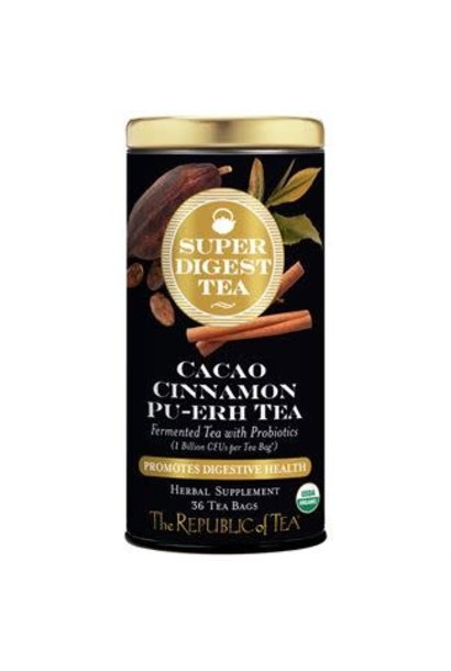 Super Digest Tea Cacao Cinnamon Pu-erh Organic