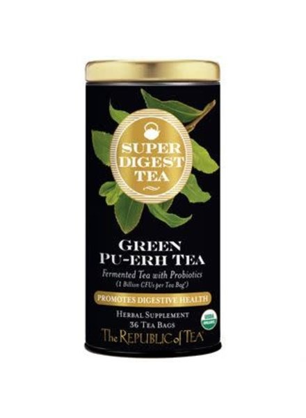 Republic of Tea Super Digest Tea Green Pu-erh Organic