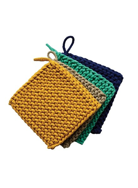 creative co-op Crocheted Pot Holder Ocean ASTD
