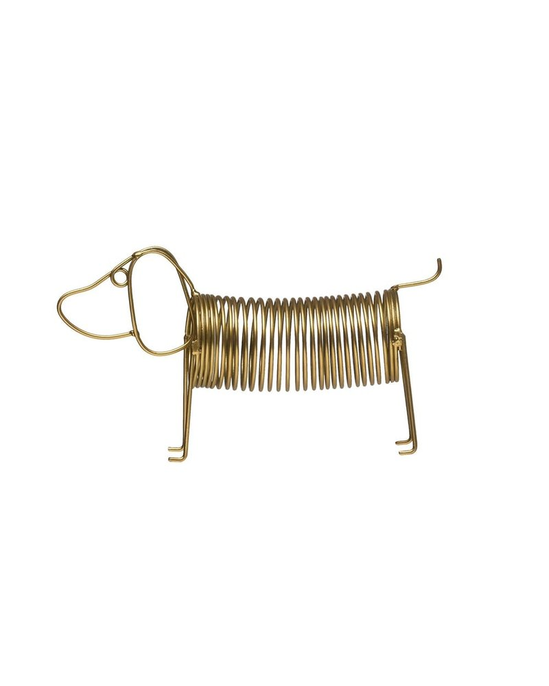 creative co-op Card Holder Golden Dachshund