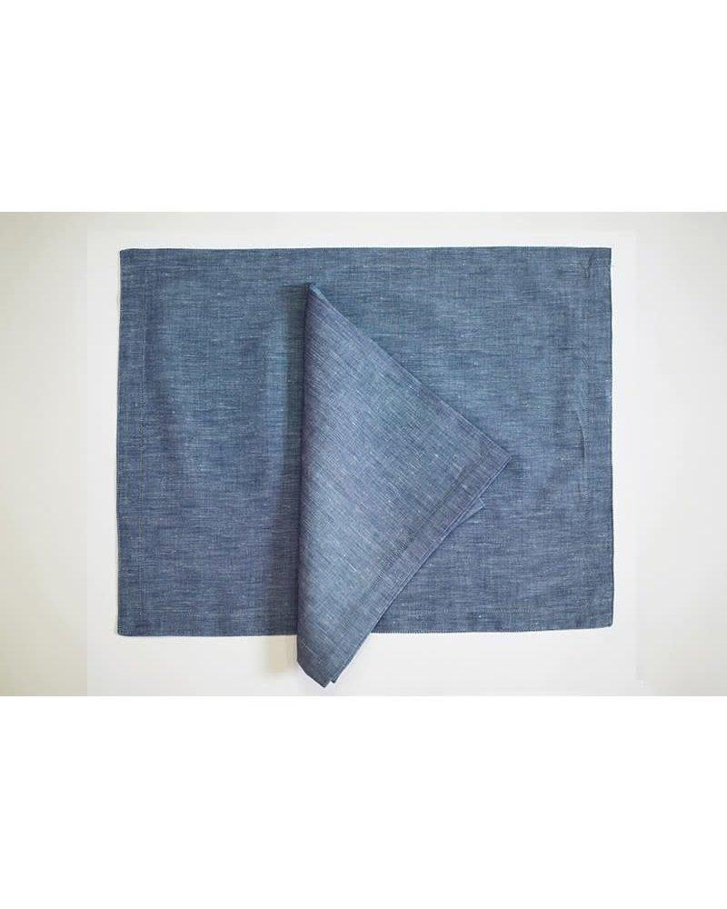 Petal Pushing Placemat Urban Linen  Blue