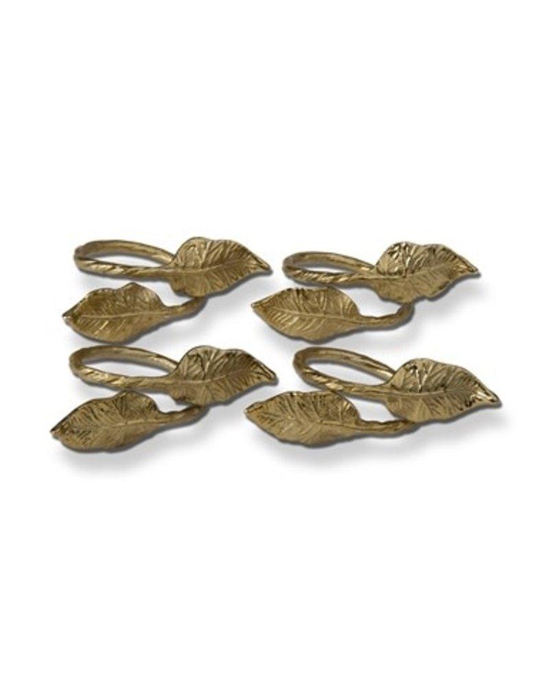 Tag Napkin Ring Leaf Gold