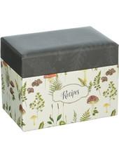 CR Gibson Recipe Box Botanical