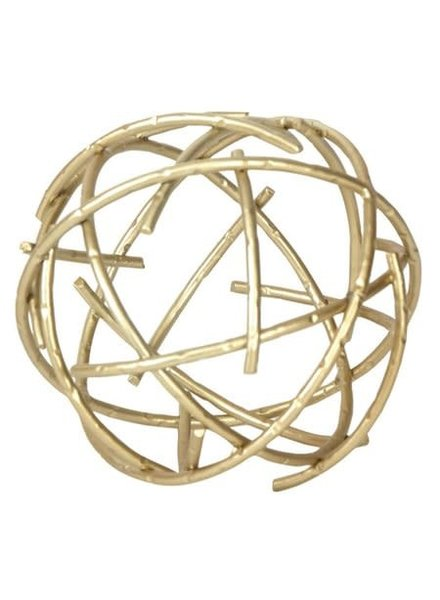 Foreside Home & Garden Brass Stick Sphere Small