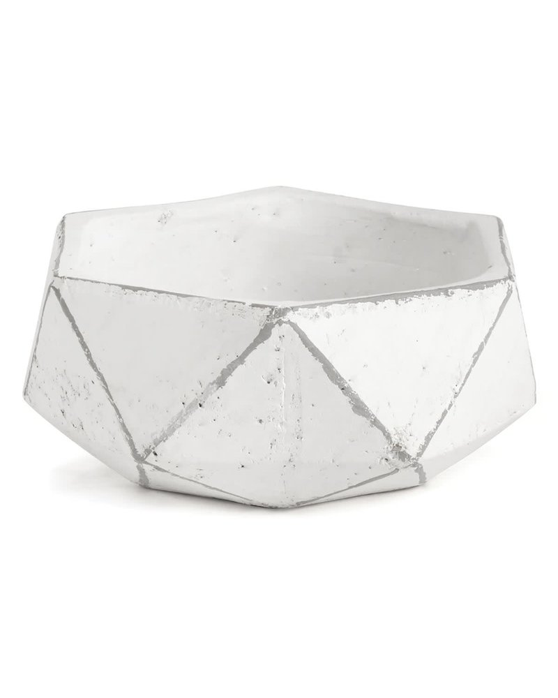 Napa Home & Garden Geometric Planter White Dish