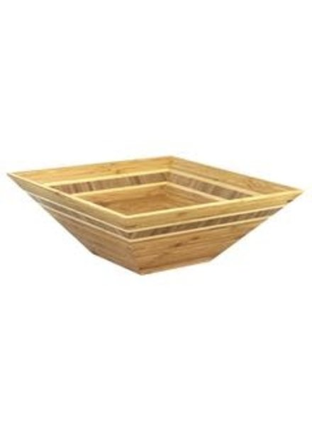 "Totally Bamboo Bowl Bamboo 12"" SQ"