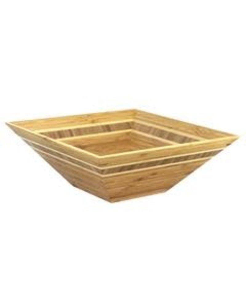 Totally Bamboo Bowl Bamboo 12'' SQ