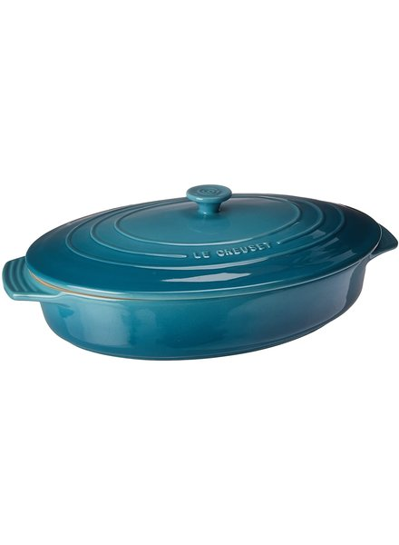 Le Creuset Casserole Covered Oval Caribb