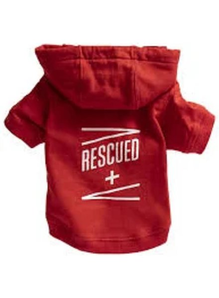 Dog Hoodie Rescued LRG