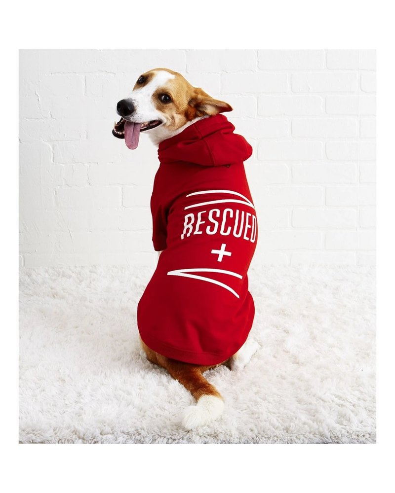 Easy Tiger Dog Hoodie Rescued XS