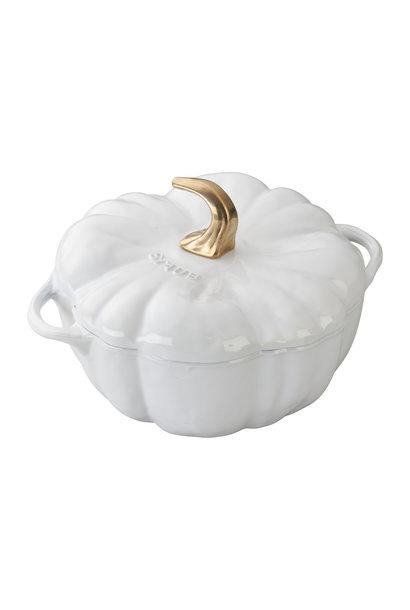 STAUB Cocotte 3.5QT Pumpkin White