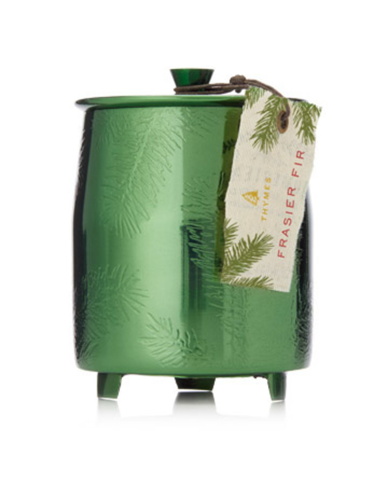 Thymes Frasier Fir  Candle Green Metal 9.5oz