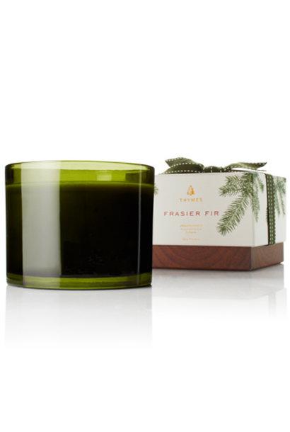 Frasier Fir  Candle Green Glass 3-Wick