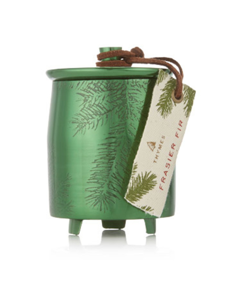 Thymes Frasier Fir Candle Green Metal 4oz
