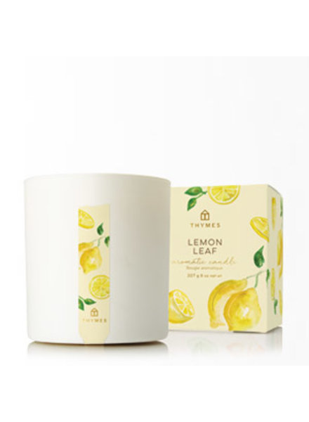 Thymes Lemon Leaf Poured Candle