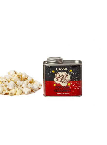 Wabash Valley Farms Popcorn Seasoning Retro Tin Movie Theater
