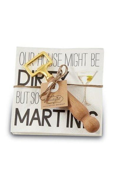 Napkin + Bottle Opener Set Martini