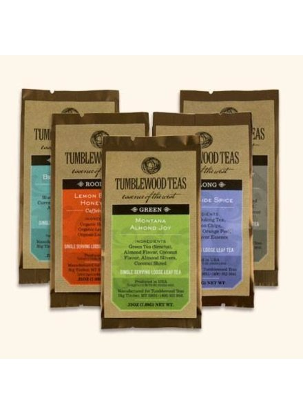 Tumblewood Tea TW Tea Singles Assorted Blends