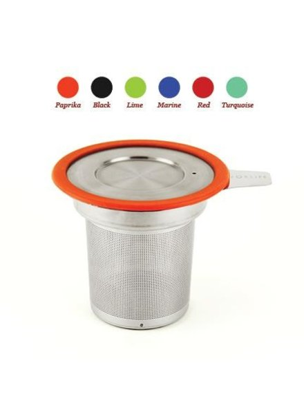 Tea Infuser With Lid Red
