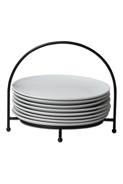 Whiteware Buffet Plates Set of 6