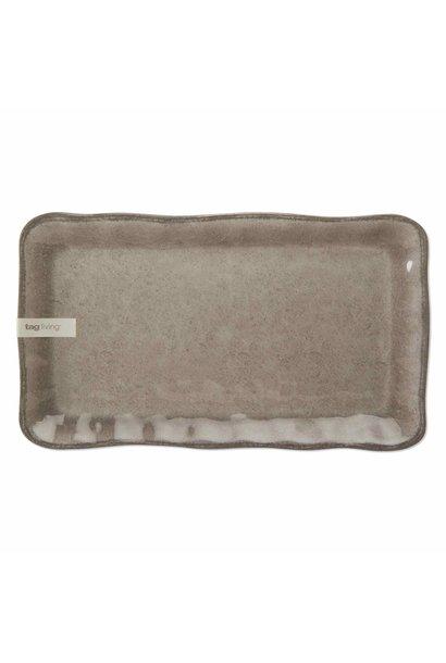 Veranda Warm Gray Platter