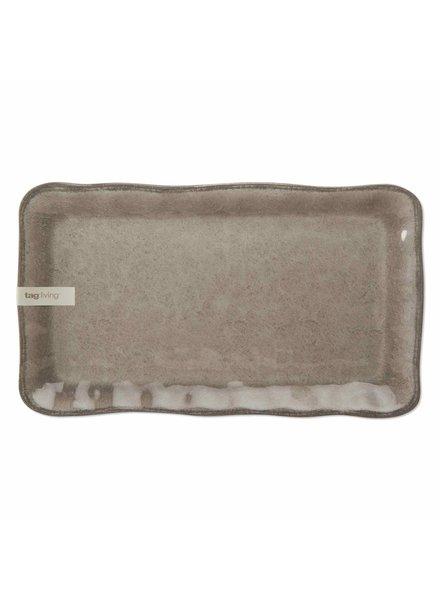 Tag Veranda Warm Gray Platter