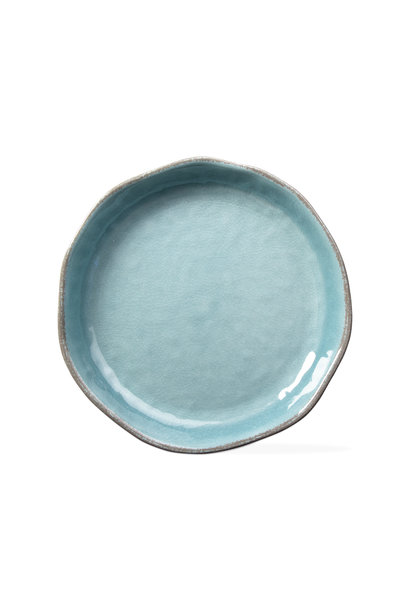 Veranda Aqua Shallow Serve Bowl