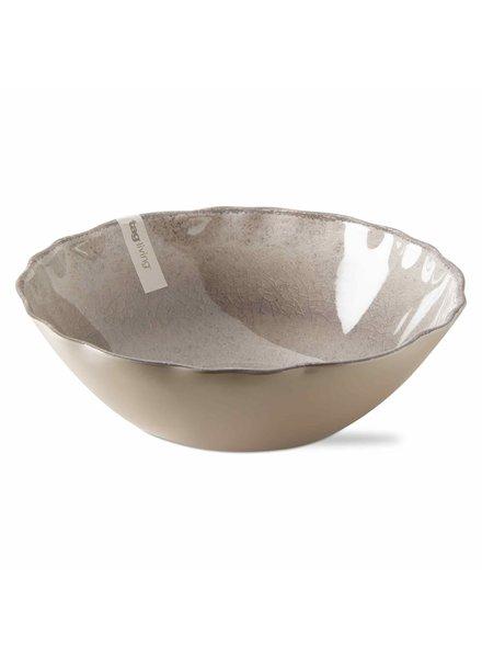 Tag Veranda Warm Gray Serving Bowl