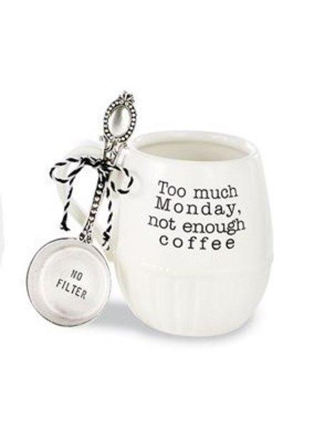 Mud Pie Mug + Spoon Set, Monday