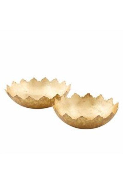 Bowl Set Decorative Gold Foil