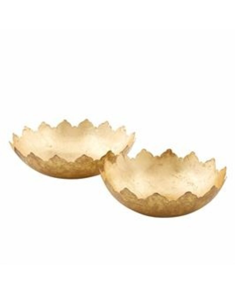 Mud Pie Bowl Set Decorative Gold Foil