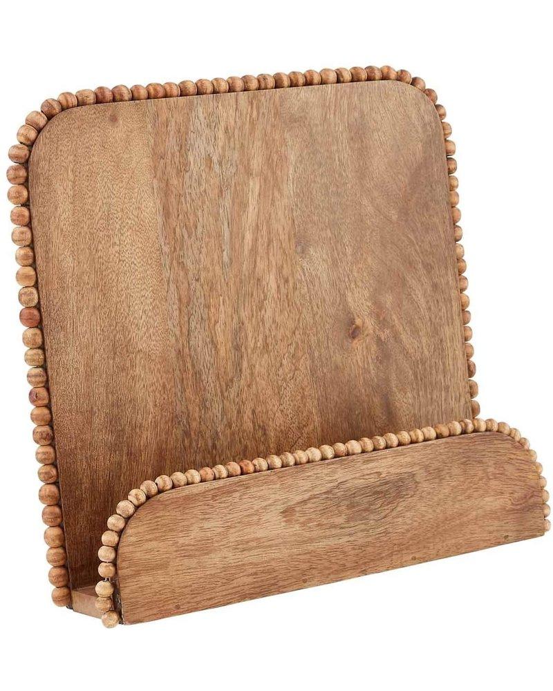 Mud Pie Cookbook Holder Wooden Bead