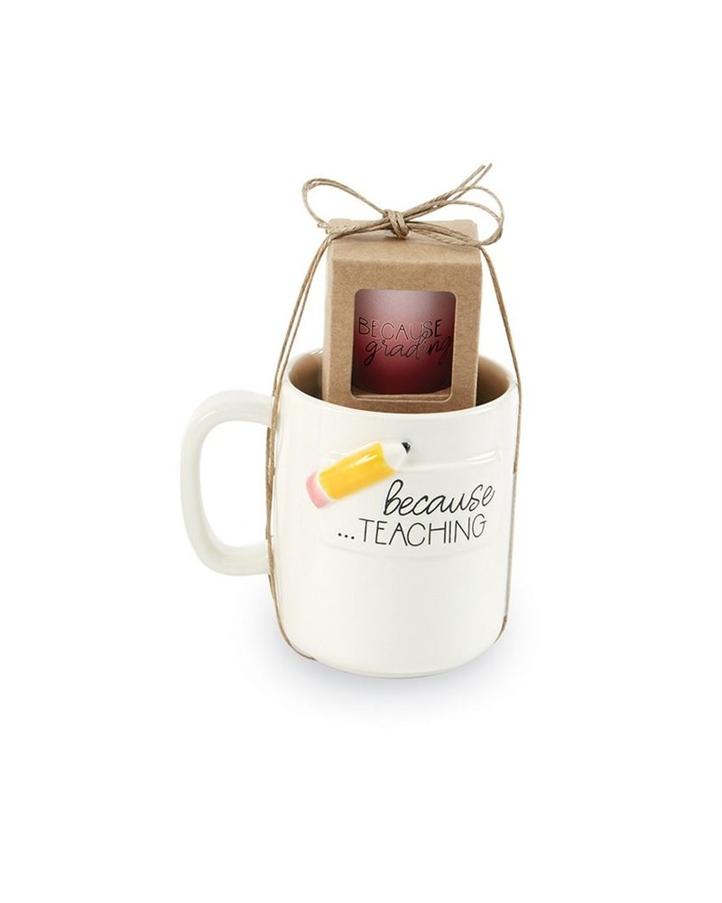 Mud Pie Mug & Shot Set, Teacher Pencil