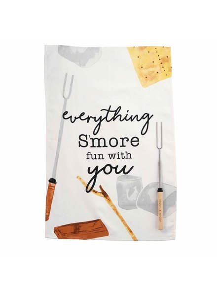 Mud Pie Towel & Roasting Stick Set Smore Fun