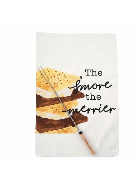 Mud Pie Towel & Roasting Stick Set Smore Merrier