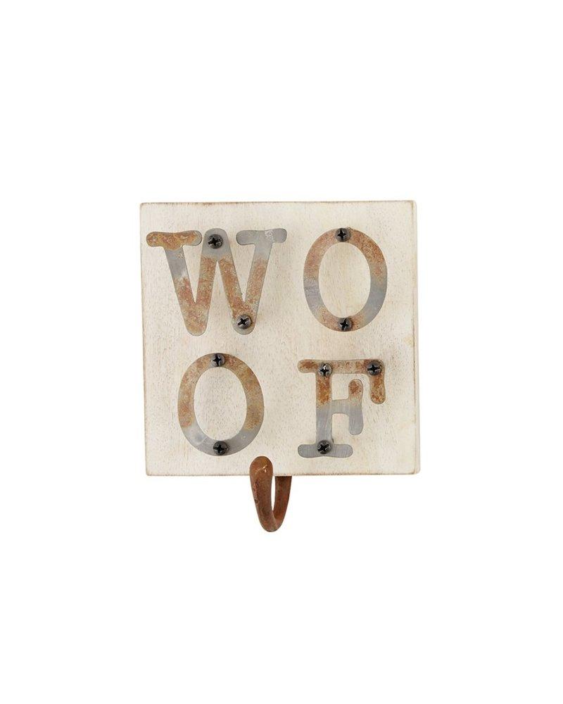 Mud Pie Dog Leash Hanger, Woof