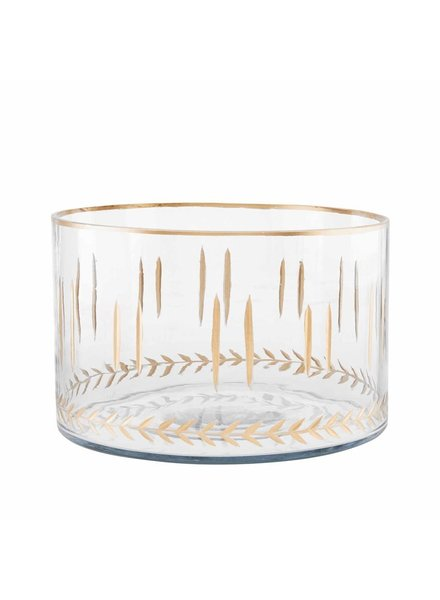 Mud Pie Bowl Gold Etched, Large
