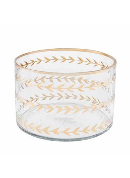 Mud Pie Bowl Gold Etched, Small