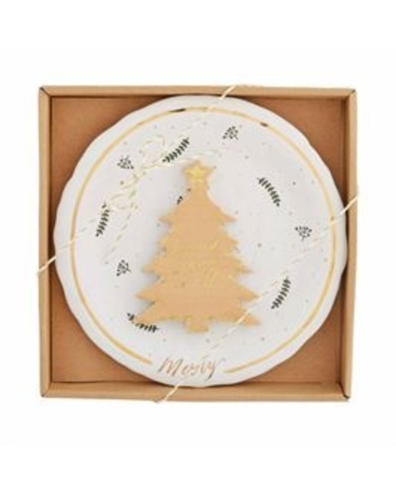 Mud Pie Cheese Serving Set, Gold Splatter