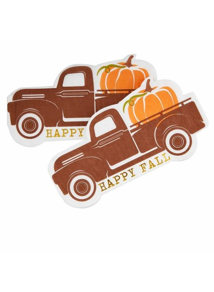 Mud Pie Cocktail Napkin, Fall Truck