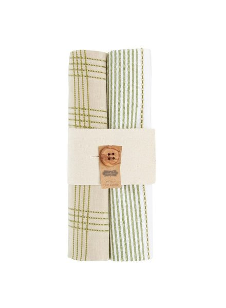 Mud Pie Dish Towel Bundle, Fall Stripes