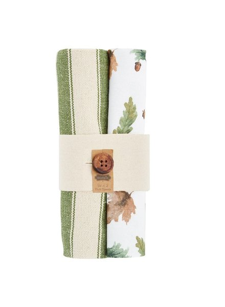 Mud Pie Dish Towel Bundle, Leaves