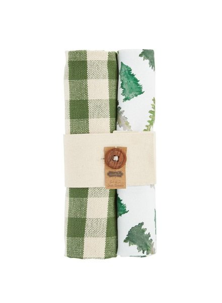 Mud Pie Dish Towel Bundle, Trees