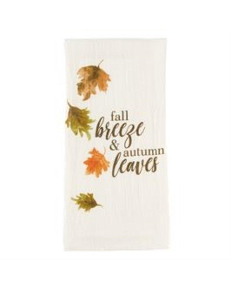 Mud Pie Floursack Towel, Watercolor Leaves